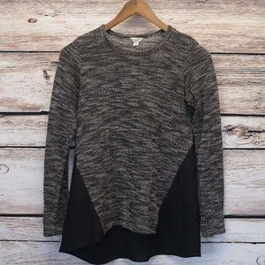 Lucky Brand Knit Top Marled L/S Tunic